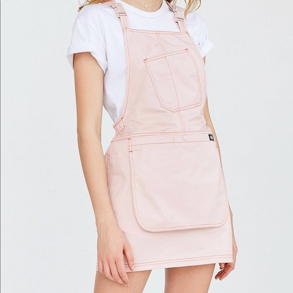 88e4add0e42 Dickies x Urban Outfitters Pink Overalls Dress. M 5a385742077b97b5230001cf